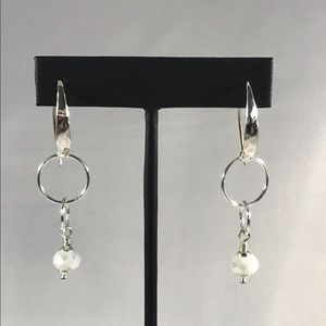 Sterling Silver Hammered V-wire Earrings